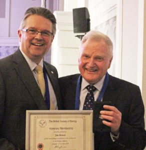 Jim Brown receives Honorary Membership of the BSB